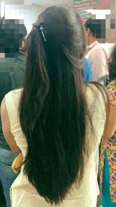 Long Ponytail Hairstyles, Braids For Long Hair, Long Indian Hair, Silky Smooth Hair, Long Black Hair, Super Long Hair, Bun Hair, Beautiful Long Hair, Thick Hair