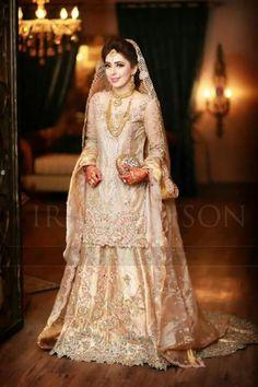 Cream bridal dress