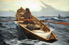 Winslow Homer (American 1836-1910)- The Fog Warning at Boston Museum of Fine Arts
