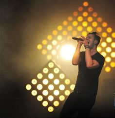 Ryan Tedder of OneRepublic sings at a concert at First Niagara Pavilion in Burgettstown. Aug 8 2014 Pittsburgh, PA