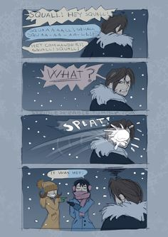 It snowed today, so I thought it would be fitting to upload this little comic that I did about a year ago I guess next -> Winter is Coming 2 Winter is Coming 1 Lightning Final Fantasy, Final Fantasy Vii, Fantasy Series, Fantasy Art, Voltron Galra, Square Enix Games, Video Game Addiction, Final Fantasy Collection, Final Fantasy Characters