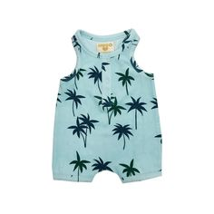Baby Infant Toddler Short Sleeve Romper Bodysuit Sunset Palm Tree Lovely Round Neck Baby Clothes