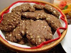 Biscoitinhos integrais de chocolate com aveia