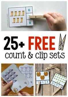 25 FREE Count and Clip Activities via NoodleNook.Net