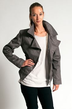 Ladies P Coat - The latest addition to the HoodLamb Winter Jacket range, the stylish P Coat is a beautiful short-cut jacket. Inspired by the traditional Peacoat, it features a stylish collar, a double-breasted front and custom crest buttons. It is lined with a thinner Satifur lining than the Classic HoodLamb, making it a great jacket for mild Winter weather. Combined with a woolen sweater it's a perfect coat for colder days as well! Made from hemp, organic cotton and vegan fur.