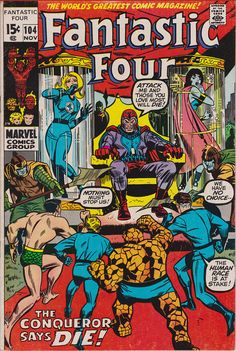 Fantastic Four #104  November 1970  Marvel Comics  Grade F/VF