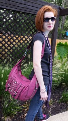 Betsey Johnson Biker Babe Pink Hobo Handbag NWT $358 Starting bid $99.00 #BetseyJohnson #Hobo