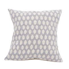 Merino Lambswool Cushion - Elca Linen on Pearl Cushion - Tori Murphy Ltd
