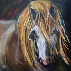 HORSE EQUINE ANIMAL ART OIL PAINTING DAILY ARTOUTWEST