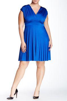 Surplice Pleat Dress (Plus Size) by Soprano on @nordstrom_rack