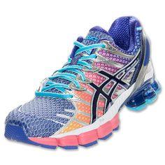 Womens Asics GEL-Kinsei 4 Running Shoes| FinishLine.com | Hot Punch/Purple/Lightning
