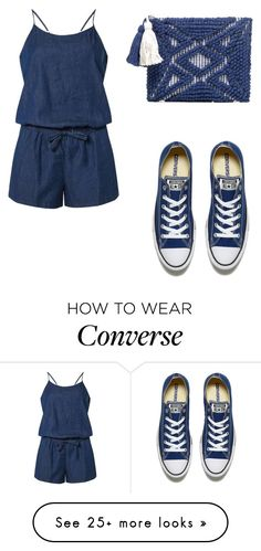 """Blue Ain't Your Color"" by sadsmith on Polyvore featuring Dorothy Perkins, Converse and Sole Society"