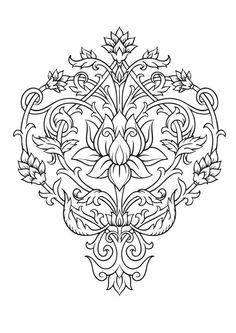 Mandala Coloring Pages Book Sheets Doodle Art Lotus