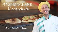 Online Kochschule mit Chakall. Rezept Kokosnuss Flan mit Banane.