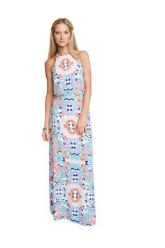BEST SELLING PRINT in this awesome maxi dress! Perfect for a wedding, party, or date night! Annie Griffin Natalie Sevilla Dress – Charlotte's Inc  www.charlottesinc.com