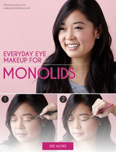 Here's an easy monolid eye makeup tutorial to enhance your eyes' natural shape. #Beauty #MakeupTutorial