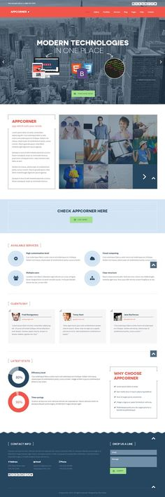 Appcorner : Business WordPress Theme