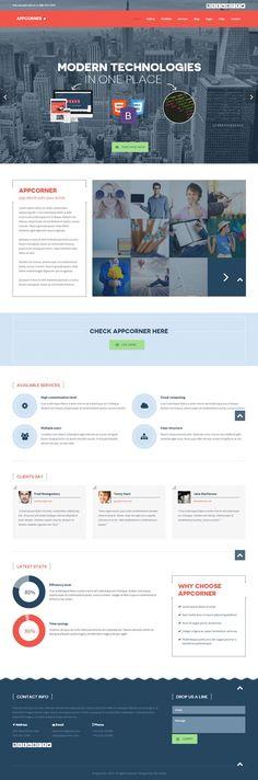 Appcorner : Business WordPress Theme