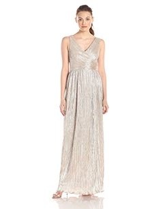 JS Boutique Womens Pleated Metallic Knit Faux Crossover Sleeveless Gown Gold 10 ** You can find more details by visiting the image link-affiliate link. Crossover, Pink Evening Gowns, Bridesmaid Dresses, Prom Dresses, Surplice Dress, Formal Dresses For Women, Amazing Women, Fashion Dresses, Metallic