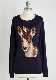 <p>We all get by with a little help from our friends, and the whimsical woodland pals on this navy pullover from Sugarhill Boutique can certainly relate! Stitched with a darling spotted deer and a little bird atop its head, this lightweight layer - inspired by the founding siblings' travels - pairs best with time spent alongside your most cherished companion.</p>