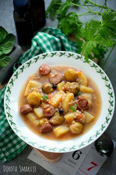 Zupa brukselkowa z parówkami #Brusselssprouts #soup with #wieners Chana Masala, Sprouts, Ethnic Recipes, Food, Essen, Meals, Yemek, Eten