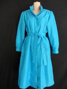 Forecaster Of Boston Trenchcoat Raincoat Blue Size 5/6 Vintage  #ForecasterOfBoston #Everyday