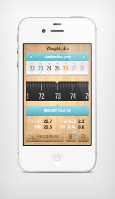 Weight Me iPhone App, by Jozef Mak