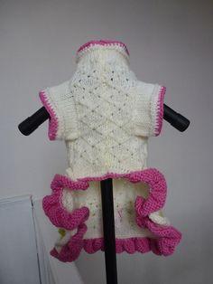 Perro suéter vestido hecho en bordado por encargo de la