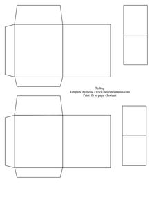 Teabag Gift bag Template — just decorate it any way you want it –> BellesPrintables diy, printable, gift bag, pattern, template, gift box, favor box