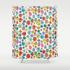 'Faces' Shower Curtain - Amy Walters