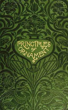 Book cover of Principles of Ornament by James Ward 1896 | Flickr - Photo Sharing!
