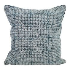 Batik pacific blue linen cushion 55x55cm I love Walter G textiles. A great mix of ethnic and beach and lovely colours. Expensive but a few go a long way. Available through Brookfield Garden centres.  For your modular sofa in the living room