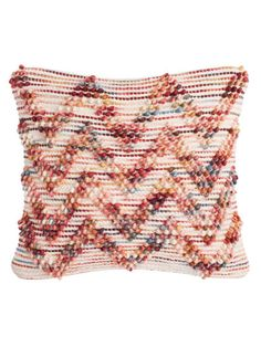 Looped Chevron Wool Pillow by Safavieh at Gilt