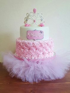 Baby shower cake with a tutu stand