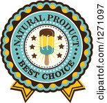 Clip art - showing what turquoise, brown, and mustard yellow might look like on an award.