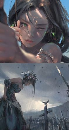 Wlop is creating comic, illustrations, fanart fantasy girl, anime fantasy, arte digital Fantasy Kunst, Dark Fantasy Art, Fantasy Girl, Fantasy Artwork, Anime Fantasy, Cg Artwork, Manga Art, Anime Art, Creation Art
