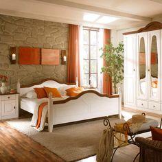 Holzbett landhausstil  Garderobe, Flur, Foyer, Diele, Eingangsbereich, Shabby chic Möbel ...