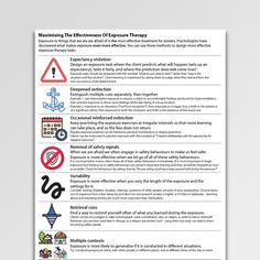 Free Printable CBT Worksheets For Professionals And Self-Help - Psychology Tools Cbt Worksheets, Therapy Worksheets, Compulsive Behavior, Compulsive Disorder, Understanding Exposure, Anxiety Treatment, Exposure Therapy, Therapist Office, Psicologia