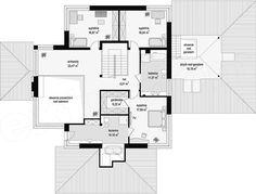 KUĆA IZ SNOVA: Fenomenalna moderna kuća sa 4 sobe i 3 kupatila (UNUTRAŠNJOST + DETALJAN PLAN) - Moja kuća i vrt Floor Plans, Home, Two Story Houses, Architecture, Ad Home, Homes, Haus, Floor Plan Drawing, House Floor Plans