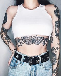 23 Gorgeous Belly Tattoos For Women - Around France - 23 Gorgeous Belly Tattoos For Women – Around France - Trendy Tattoos, Cute Tattoos, Unique Tattoos, Beautiful Tattoos, Body Art Tattoos, Small Tattoos, All Black Tattoos, Unique Tattoo Designs, Awesome Tattoos