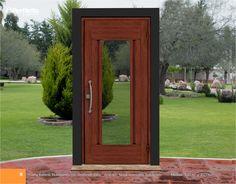 Puerta Batiente Multidiseños con Ventilación Sifón. Acabado: Nogal Americano Texturizado
