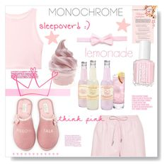 """""""Color Me Pretty: Head-to-Toe Pink"""" by orietta-rose ❤ liked on Polyvore featuring Givenchy, Victoria's Secret, Kate Spade, Essie, Charli and monochromepink"""