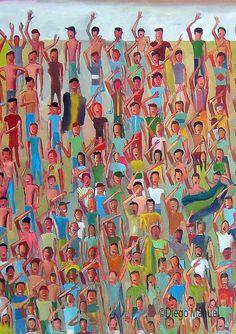 Tribuna, acrylic on canvas, 130 x 95 cm, 2014