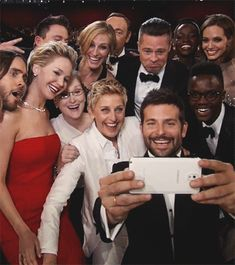 click the GIF ... Group selfy at the Oscars 2014