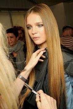 Natalia Vodianova hair makeup