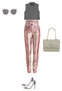 """""""so cute pants ✨"""" by hiyomi on Polyvore featuring ファッション, Monki, Zimmermann, Gianvito Rossi, Blanc & Eclare と Coccinelle"""
