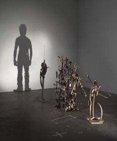 Nihilistic Optimistic: New Shadow Sculptures Built from Discarded Wood from Tim Noble and Sue Webster (youngman)