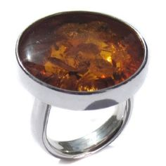 Honey Amber Sterling Silver Large Round Ring Sizes 56789101112 ** Check this awesome product by going to the link at the image. (This is an affiliate link) Gold Jewelry, Jewellery, Unique Rings, Lip Rings, Amber, Honey, Ring Sizes, Sterling Silver, Image Link