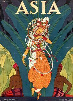 Sinhalese dancer,  cover of Adia magazine, Aug 1925