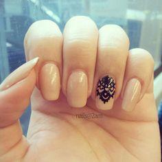 nail designs for short nails | nail-art-tribal-flower-nail-art-designs-for-short-nails-flower-nail ...